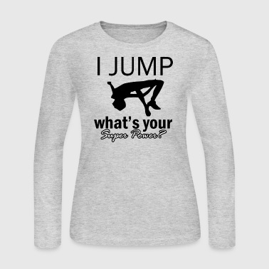 high-jump design - Women's Long Sleeve Jersey T-Shirt
