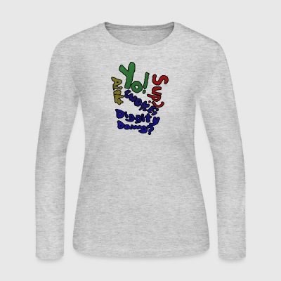 Moomaw_Text_Outlined - Women's Long Sleeve Jersey T-Shirt
