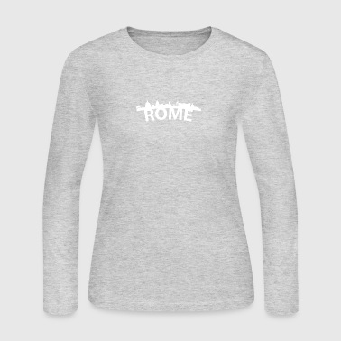 Arc Skyline Of Rome Italy - Women's Long Sleeve Jersey T-Shirt