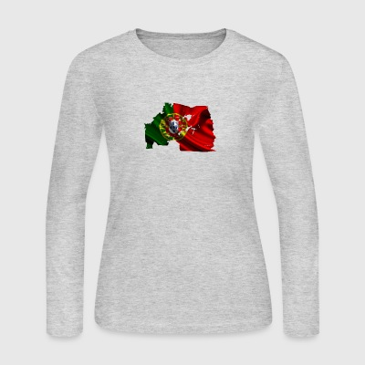Bandeira de Portugal esfarrapada - Women's Long Sleeve Jersey T-Shirt