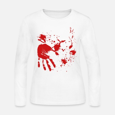 Undead blood Hand Halloween Butcher Doctor - Women's Jersey Longsleeve Shirt