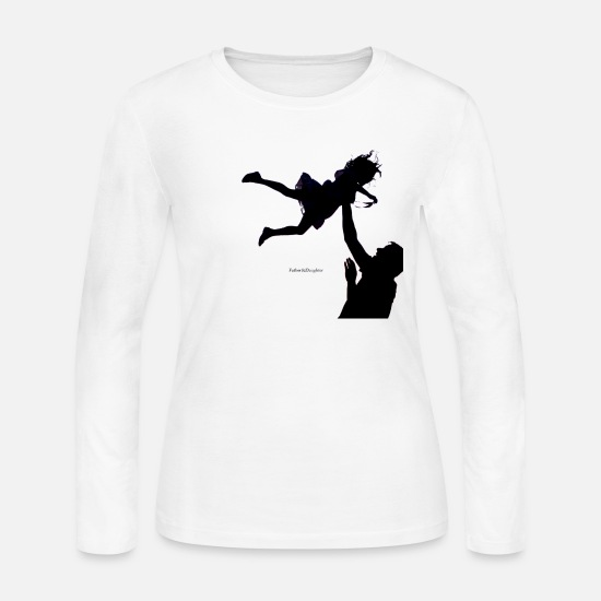 Father And Daughter Long-Sleeve Shirts - Father and Daughter - Women's Jersey Longsleeve Shirt white