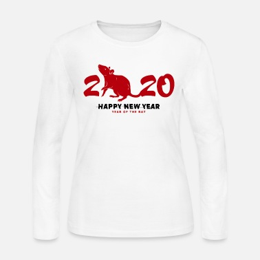 Chinese New Year happy new year 2020 - Women's Jersey Longsleeve Shirt