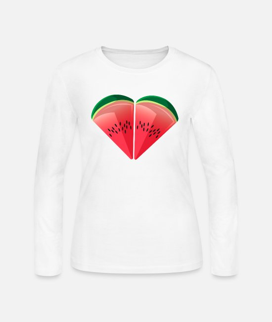 Friendship Long-Sleeved Shirts - Watermelon Friendship - Women's Jersey Longsleeve Shirt white