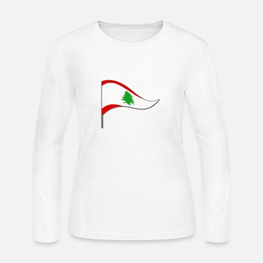 Lebanon Lebanon Beirut Arabic Flag Banner Flags Ensigns - Women's Long Sleeve Jersey T-Shirt