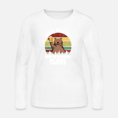 Bearded Collie Bear Ain't No Laws When You're Drinking Claws - Women's Jersey Longsleeve Shirt