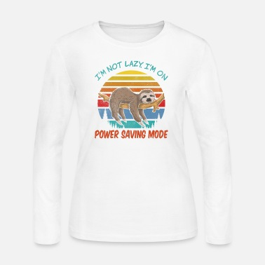 Husband I'm not Lazy, I'm On Power Saving Mode - Women's Jersey Longsleeve Shirt