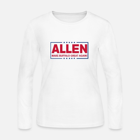 Mafia Long-Sleeve Shirts - Josh Allen Potato - Women's Jersey Longsleeve Shirt white