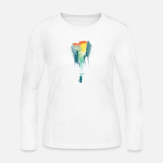 Skies Long-Sleeve Shirts - 10 I Want My Blue Sky - Women's Jersey Longsleeve Shirt white