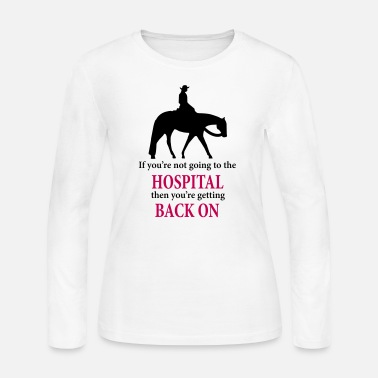 Western Quarter Horse: Western Pleasure with Quote - Women's Jersey Longsleeve Shirt