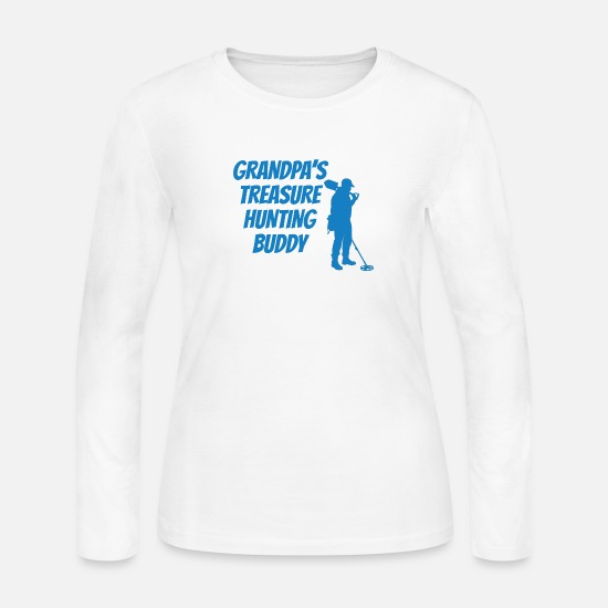 Treasure Long sleeve shirts - Grandpa's Treasure Hunting Buddy - Women's Jersey Longsleeve Shirt white