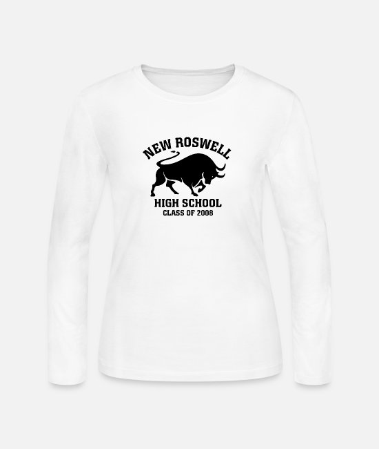 New Long-Sleeved Shirts - New Roswell High School Class of 2008 - Women's Jersey Longsleeve Shirt white