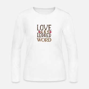 Africa Love is A 4 Legged Word - Women's Jersey Longsleeve Shirt