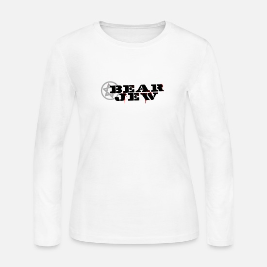 Harp Long-Sleeve Shirts - The Bear Jew - Women's Jersey Longsleeve Shirt white