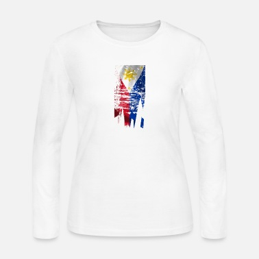 Filipino Flag Distressed Filipino Flag - Women's Jersey Longsleeve Shirt