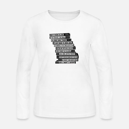 Tape Long-Sleeve Shirts - Brooklyn Nine Nine Sex Tapes - Women's Jersey Longsleeve Shirt white