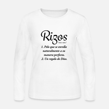 Natural Rizos Black - Women's Long Sleeve Jersey T-Shirt