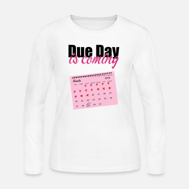 Date Of Birth Pregnancy due date birth gift - Women's Jersey Longsleeve Shirt