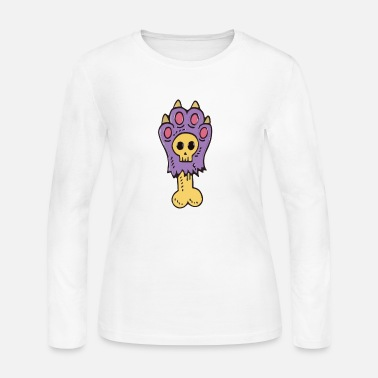 Zombie Purple Dog Paw - Women's Jersey Longsleeve Shirt