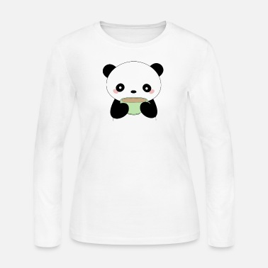 Kawaii Kawaii Coffee Panda - Women's Jersey Longsleeve Shirt