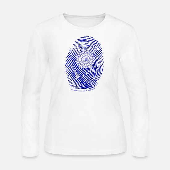 Gift Idea Long-Sleeve Shirts - natural born dart addicted t-shirt blue ink - Women's Jersey Longsleeve Shirt white