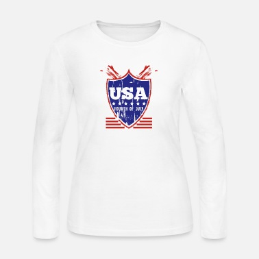 United States Usa Fourth of July - Women's Jersey Longsleeve Shirt