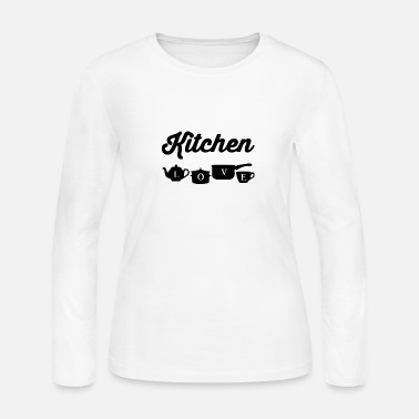 Kitchen Kitchen with kitchen utensils - Women's Jersey Longsleeve Shirt