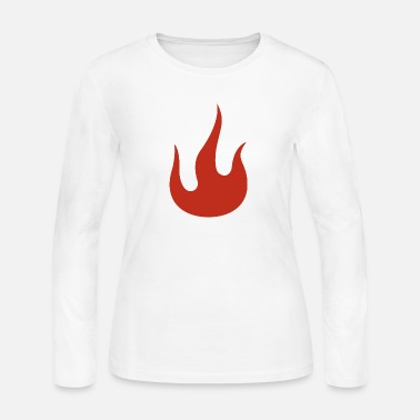 Flaming Flame - Women's Long Sleeve Jersey T-Shirt