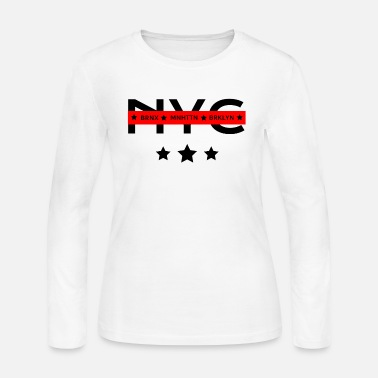 Borough NYC Boroughs - Women's Long Sleeve Jersey T-Shirt