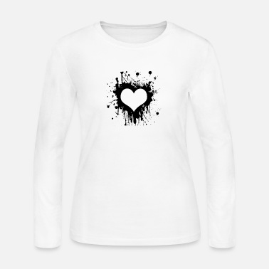 Black Heart Heart black - Women's Long Sleeve Jersey T-Shirt
