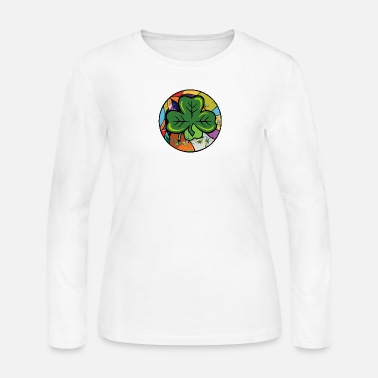 st. patricks day, shamrock - Women's Jersey Longsleeve Shirt