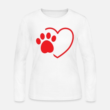 Print dog paw heart dog day - Women's Jersey Longsleeve Shirt