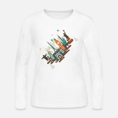 Inclined Tower A series of works everywhere I will - Women's Jersey Longsleeve Shirt