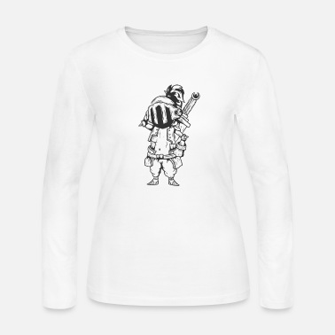 Fortress Knight with Armor and huge Sword - Women's Jersey Longsleeve Shirt