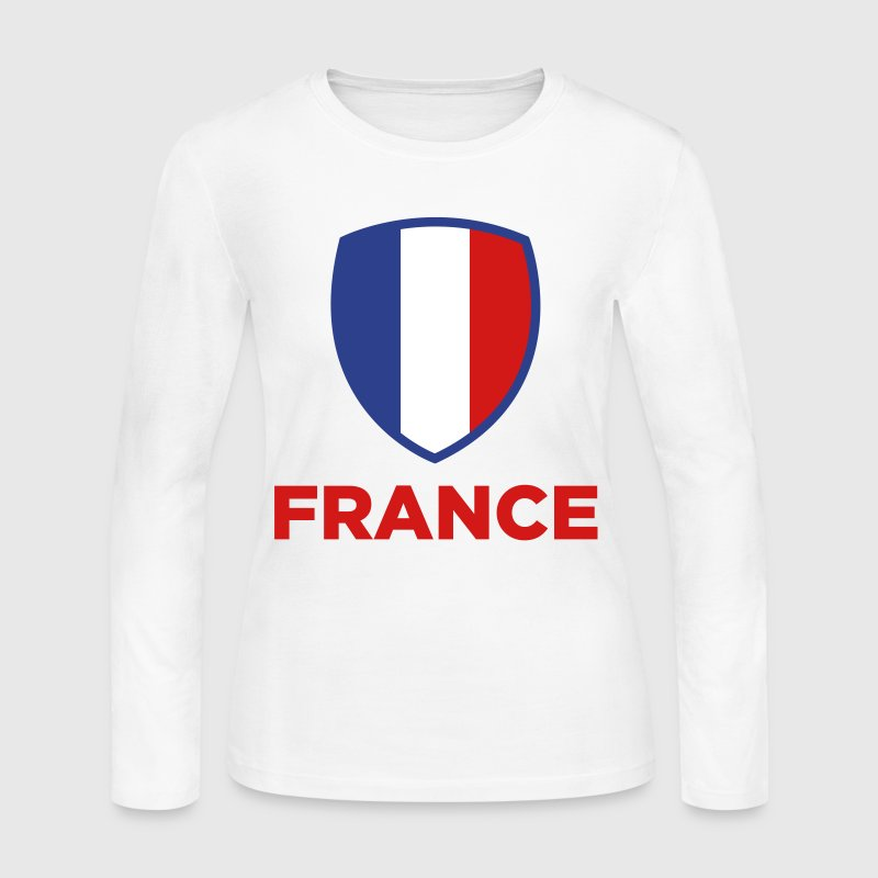 National Flag of France - Women's Long Sleeve Jersey T-Shirt
