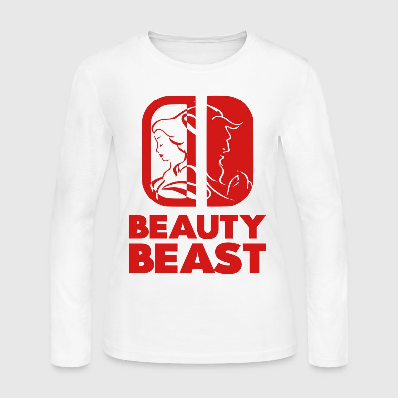 BEAUTY BEAST - Women's Long Sleeve Jersey T-Shirt