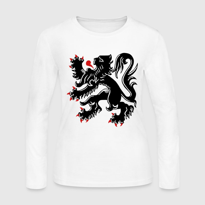 The Flemish Lion - De Vlaamse Leeuw - Flanders  - Women's Long Sleeve Jersey T-Shirt