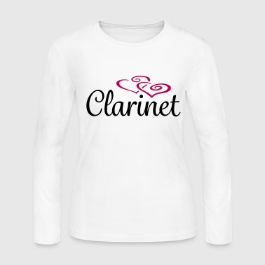Clarinet Hearts - Women's Long Sleeve Jersey T-Shirt