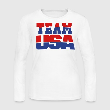 TEAM USA - Women's Long Sleeve Jersey T-Shirt