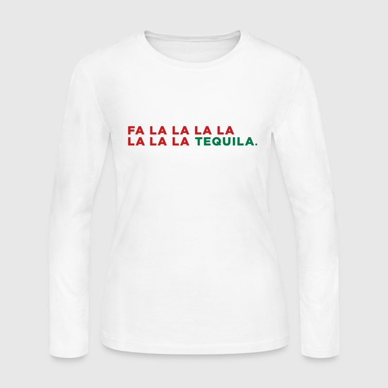 Tequila Funny Christmas - Women's Long Sleeve Jersey T-Shirt
