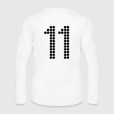11, Numbers, Football Numbers, Jersey Numbers - Women's Long Sleeve Jersey T-Shirt