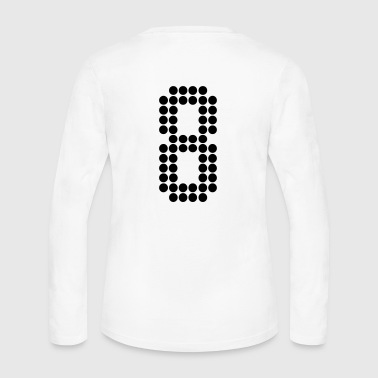 8, Numbers, Football Numbers, Jersey Numbers - Women's Long Sleeve Jersey T-Shirt