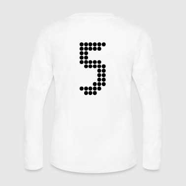 5, Numbers, Football Numbers, Jersey Numbers - Women's Long Sleeve Jersey T-Shirt