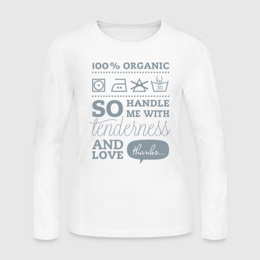Typographic Laundry Tag TLC Tender Love Care valentines day bachelorette birthday shirt - Women's Long Sleeve Jersey T-Shirt