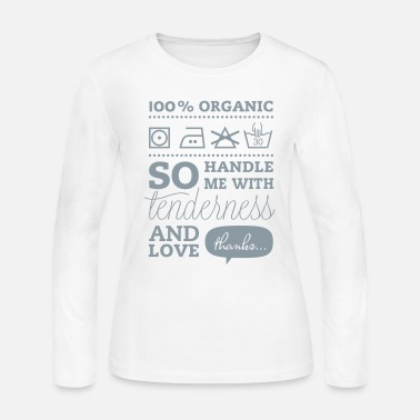 Tlc Typographic Laundry Tag TLC Tender Love Care valentines day bachelorette birthday shirt - Women's Jersey Longsleeve Shirt