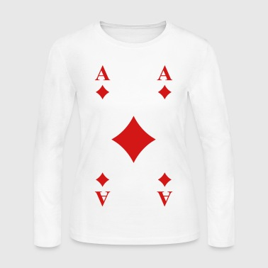 Ace of Diamonds - Women's Long Sleeve Jersey T-Shirt