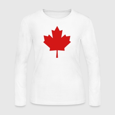 Maple Leaf - Symbol of Canada - Women's Long Sleeve Jersey T-Shirt