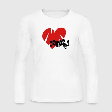 Damaged Heart - Women's Long Sleeve Jersey T-Shirt