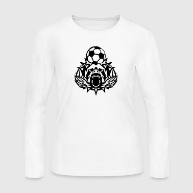 soccer pitbull wing logo sports club - Women's Long Sleeve Jersey T-Shirt