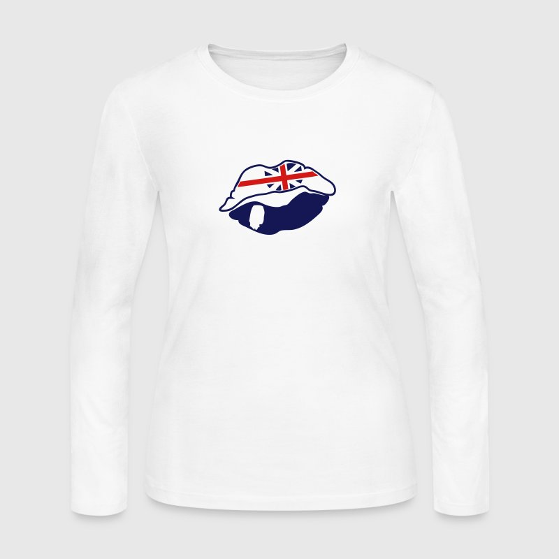 mouth lip kiss english - Women's Long Sleeve Jersey T-Shirt